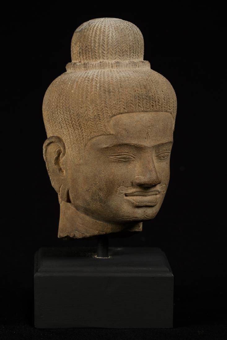 18th Century Stone Shiva Head