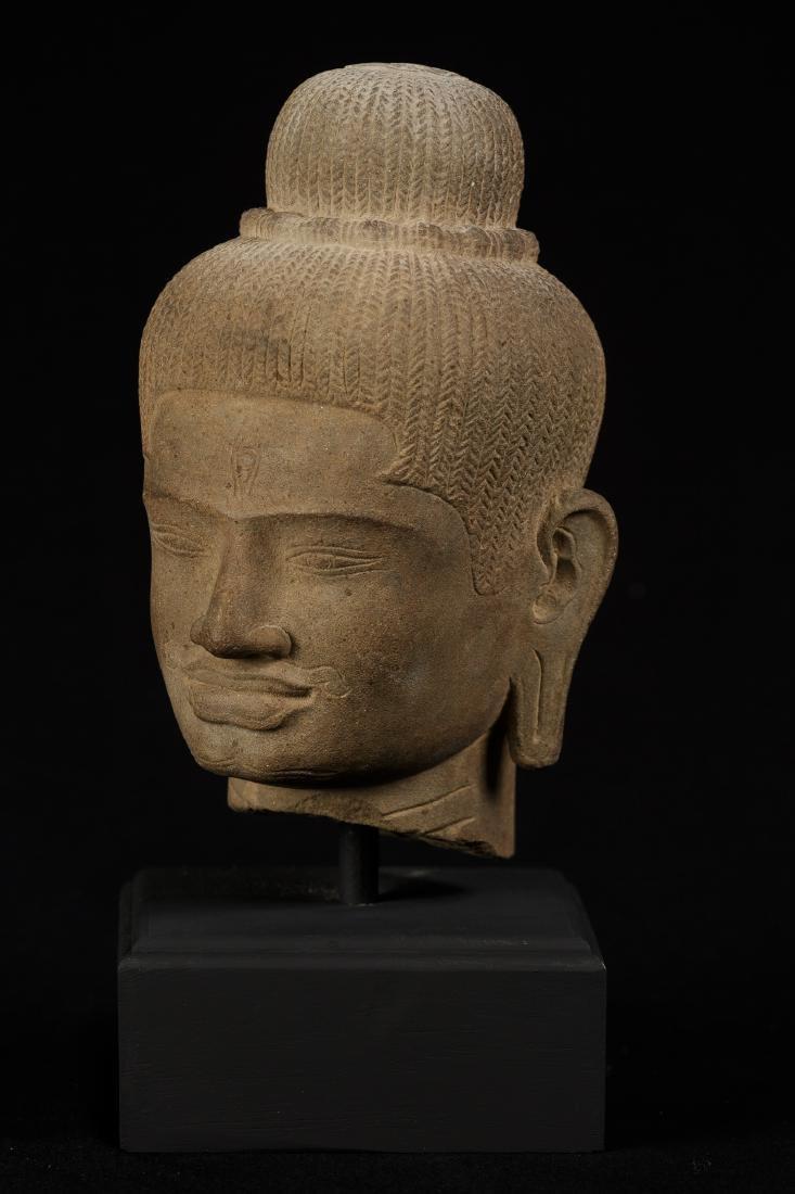 18th Century Stone Shiva Head - 2