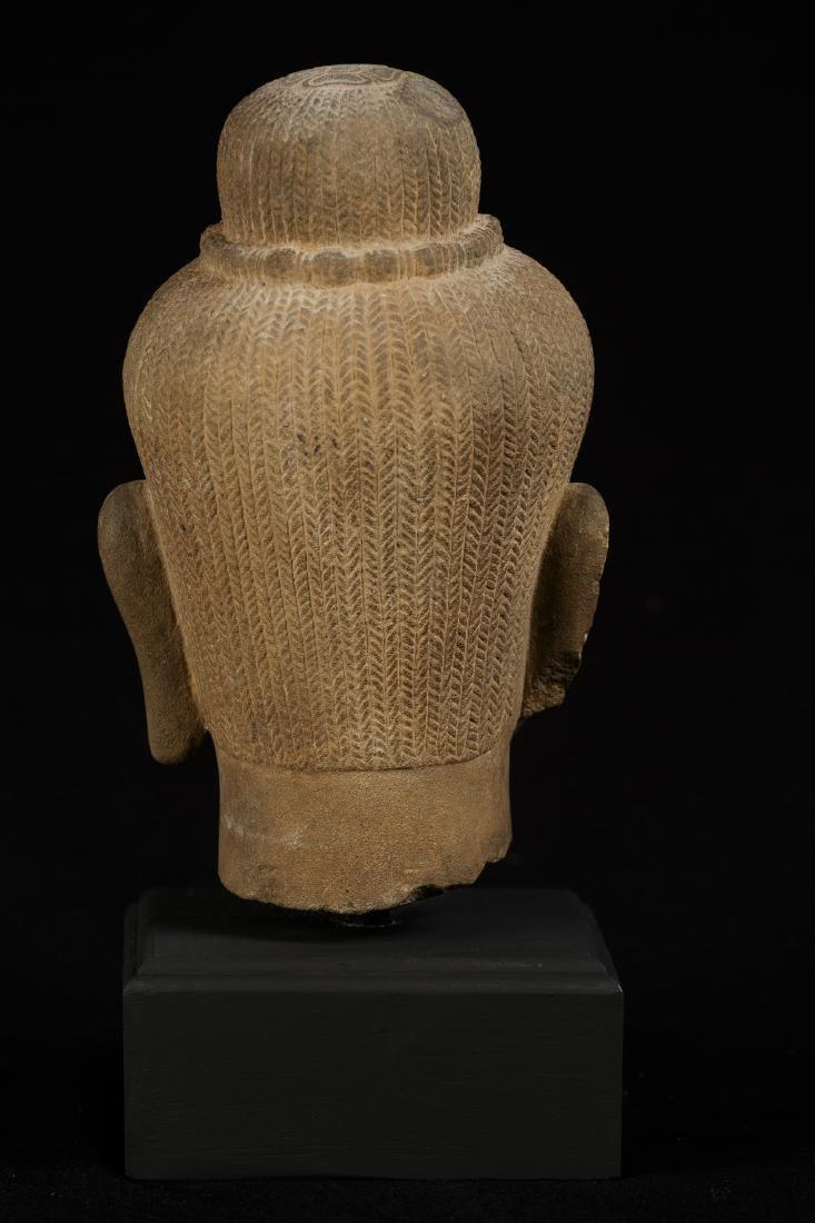 18th Century Stone Shiva Head - 3