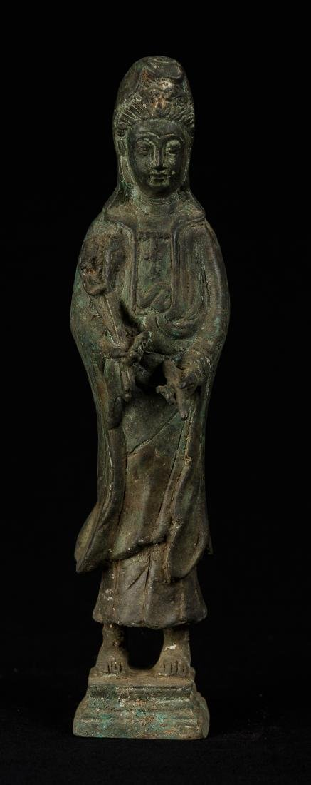 19th Century Antique Bronze Chinese Guan Yin