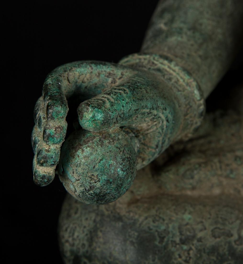 19th Century Antique Seated Bronze Ganesha Statue - 9