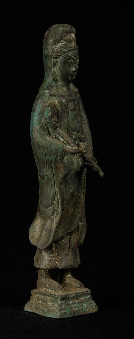 Antique Chinese Style Bronze Guan Yin