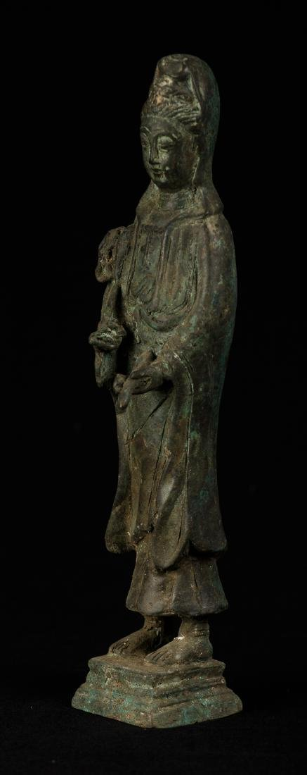 Antique Chinese Style Bronze Guan Yin - 2