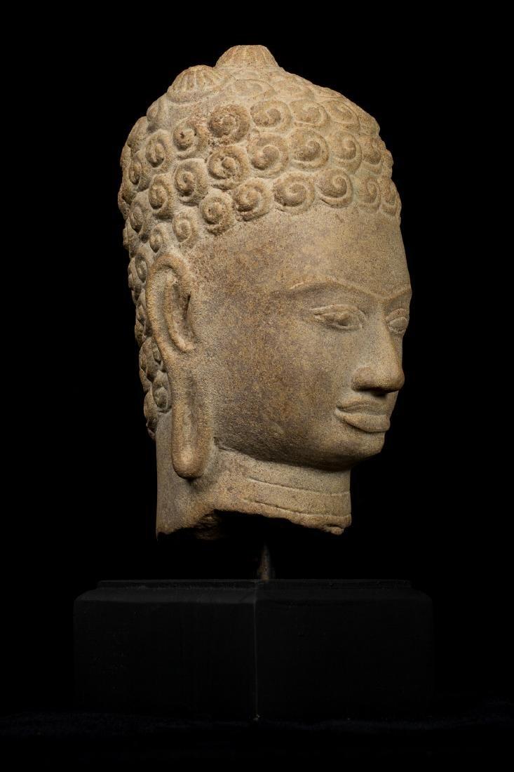 7th Century Style Khmer Buddha Head - 2