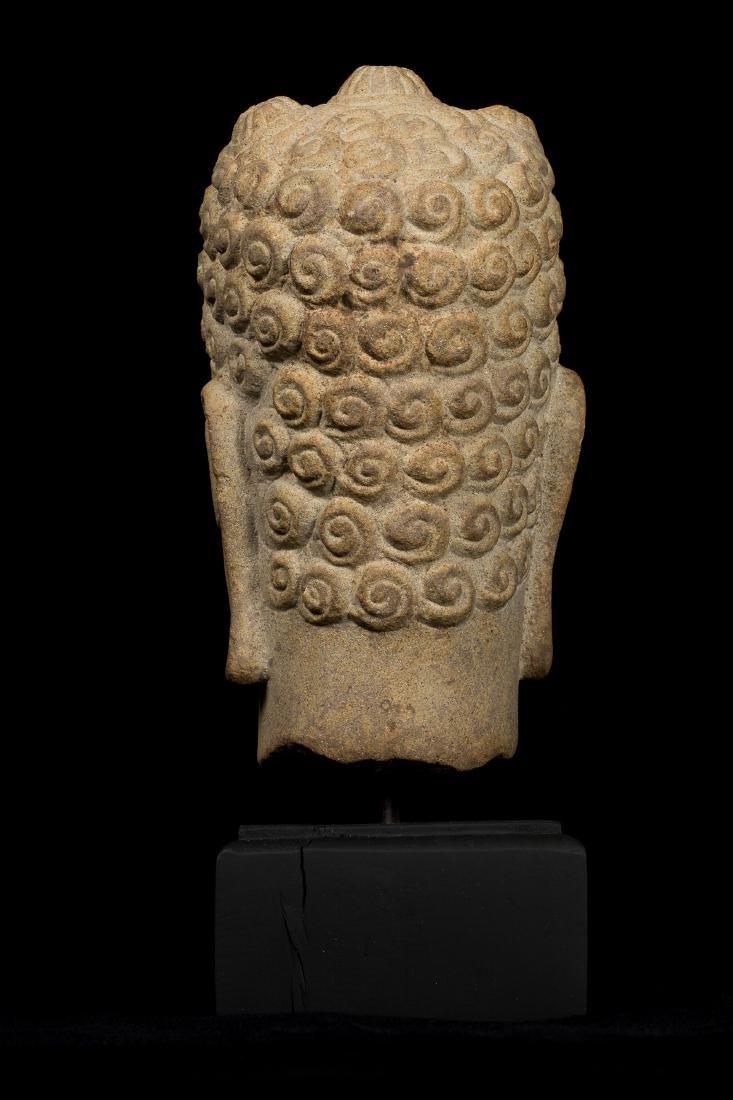 7th Century Style Khmer Buddha Head - 4