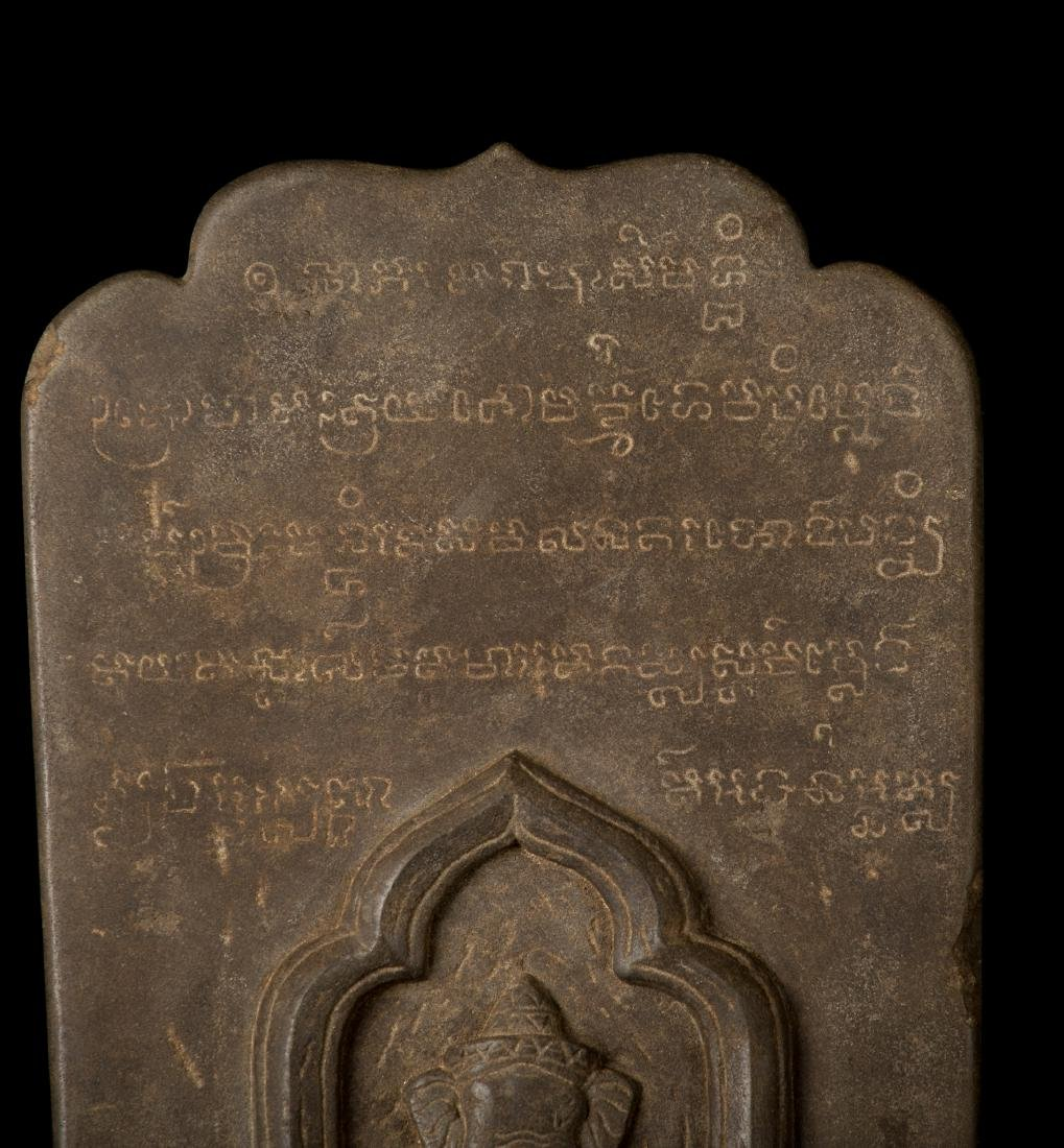 12th-13th Century Angkor Stele Ganesha & Teaching - 3