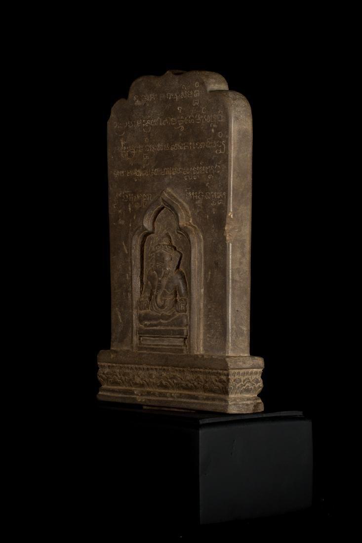 12th-13th Century Angkor Stele Ganesha & Teaching - 5