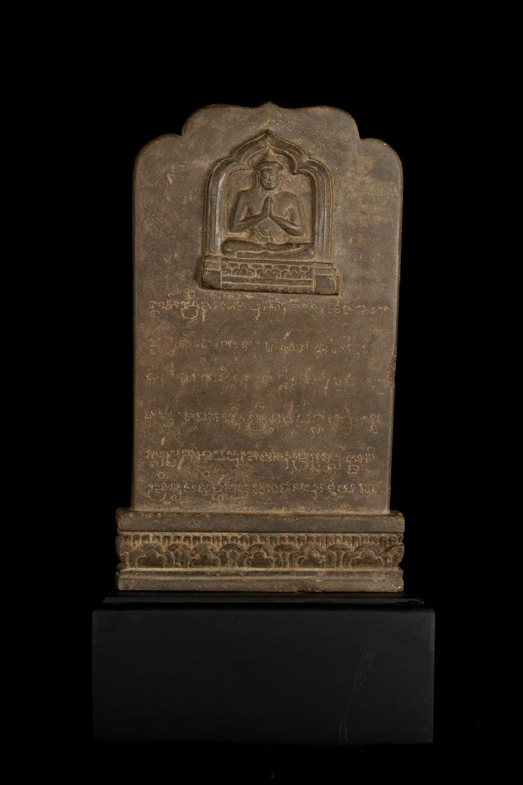 12th-13th Century Angkor Stele Ganesha & Teaching - 6
