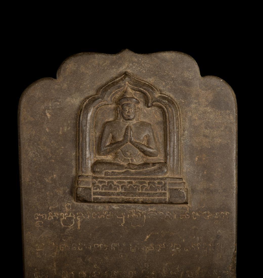 12th-13th Century Angkor Stele Ganesha & Teaching - 7