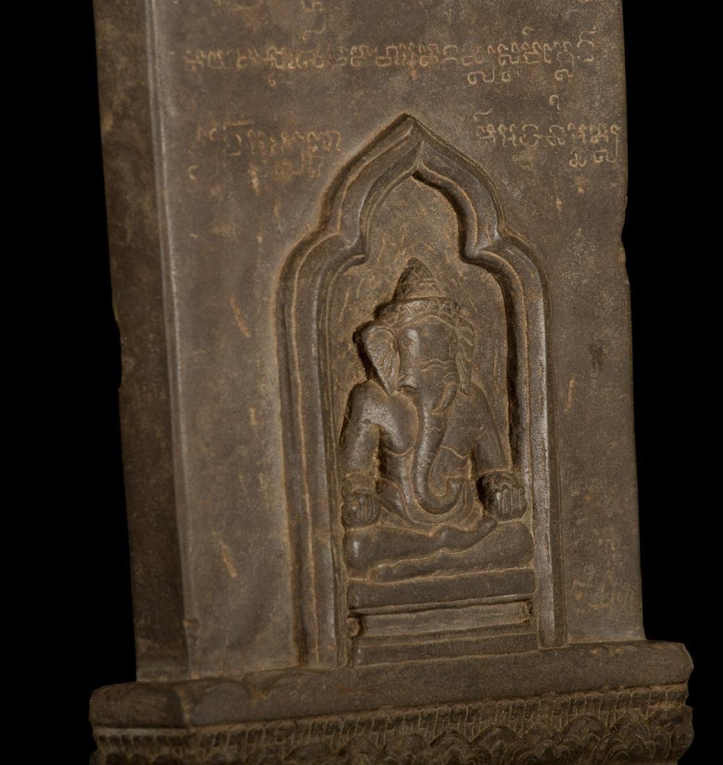 12th-13th Century Angkor Stele Ganesha & Teaching - 8