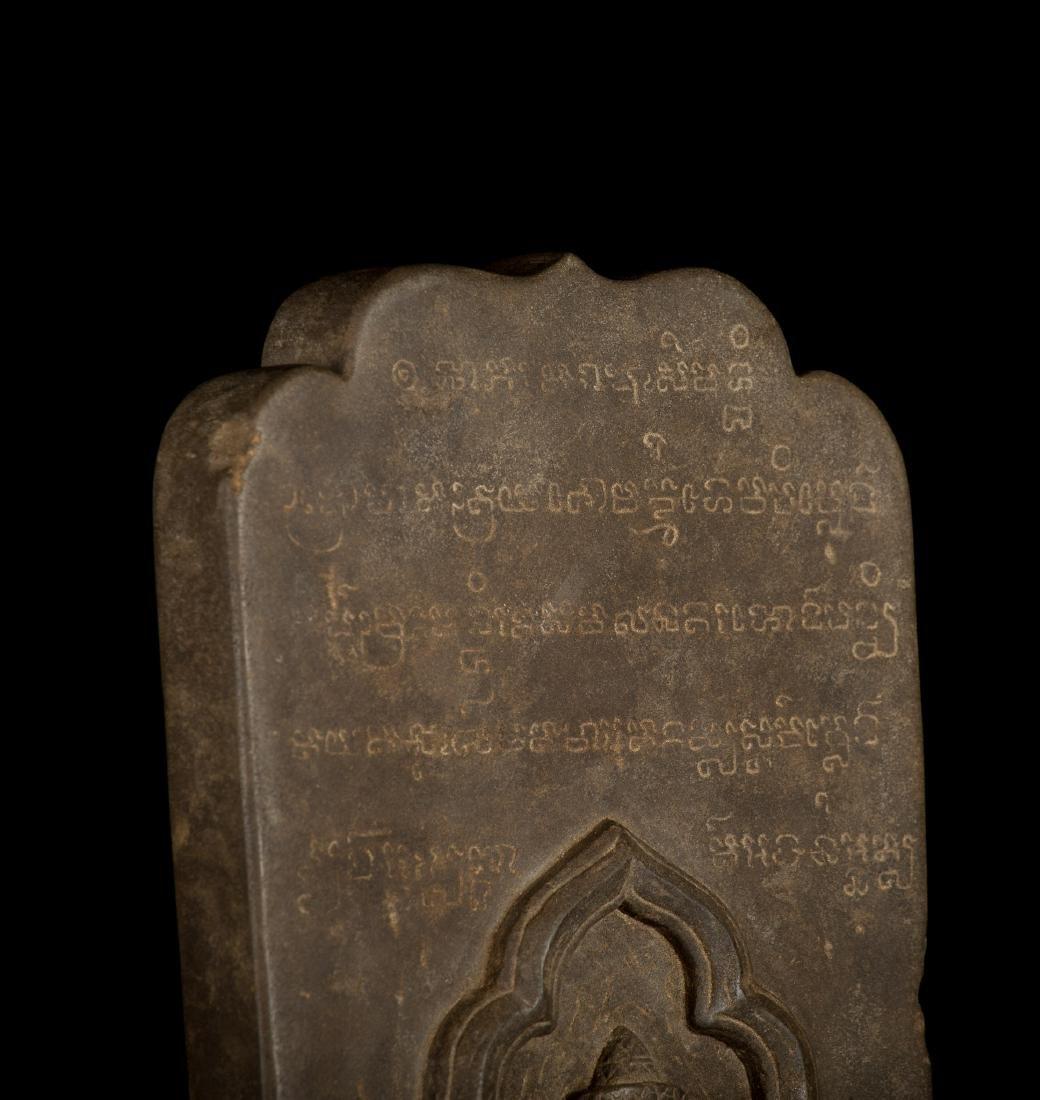 12th-13th Century Angkor Stele Ganesha & Teaching - 9
