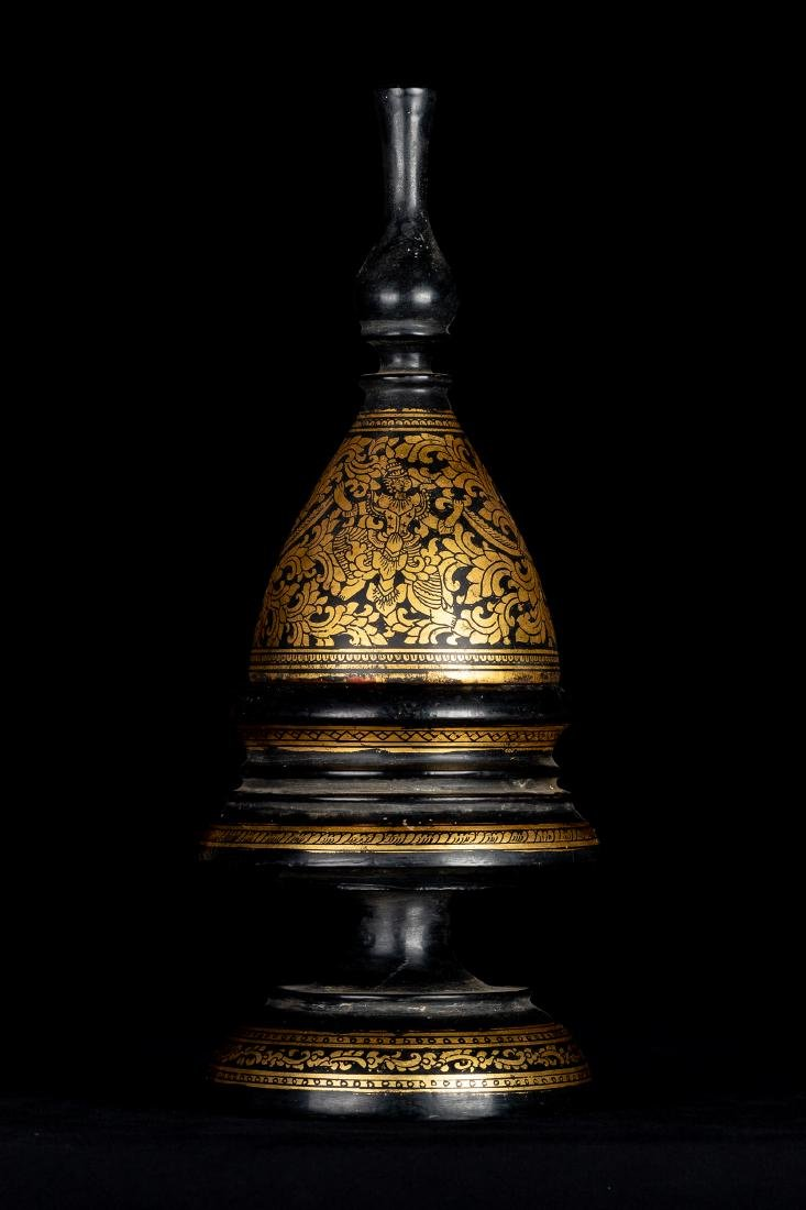 19th Century Antique Burmese Shwe Zawa Lacquerware - 3