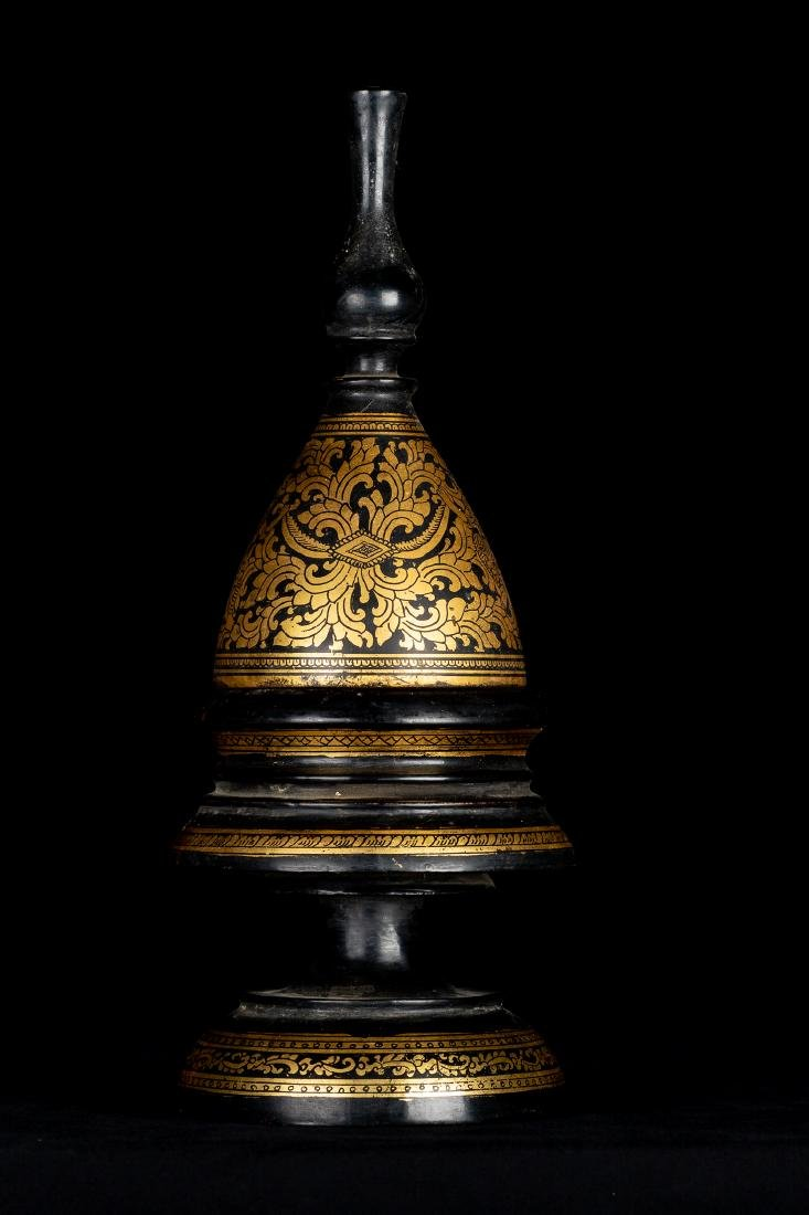 19th Century Antique Burmese Shwe Zawa Lacquerware - 4