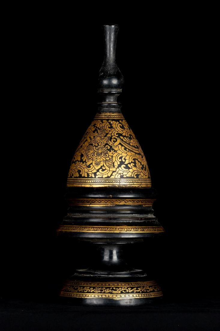 19th Century Antique Burmese Shwe Zawa Lacquerware - 5