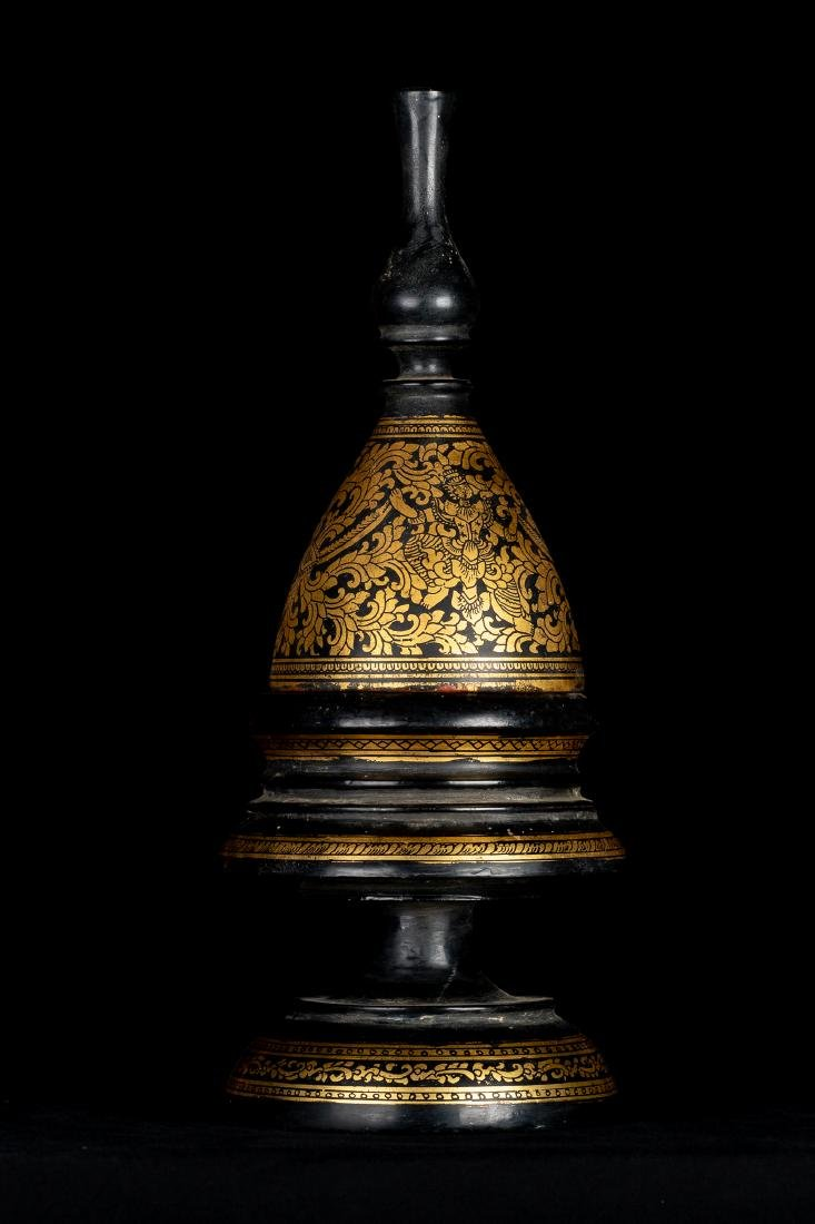 19th Century Antique Burmese Shwe Zawa Lacquerware - 6