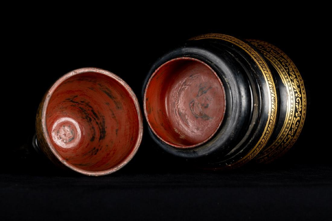 19th Century Antique Burmese Shwe Zawa Lacquerware - 7