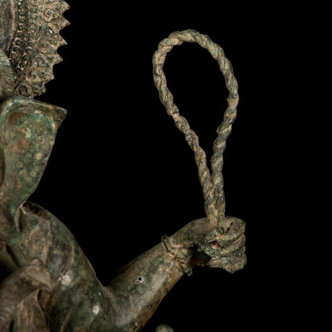 19th Century Antique Seated Bronze Ganesha Statue - 4