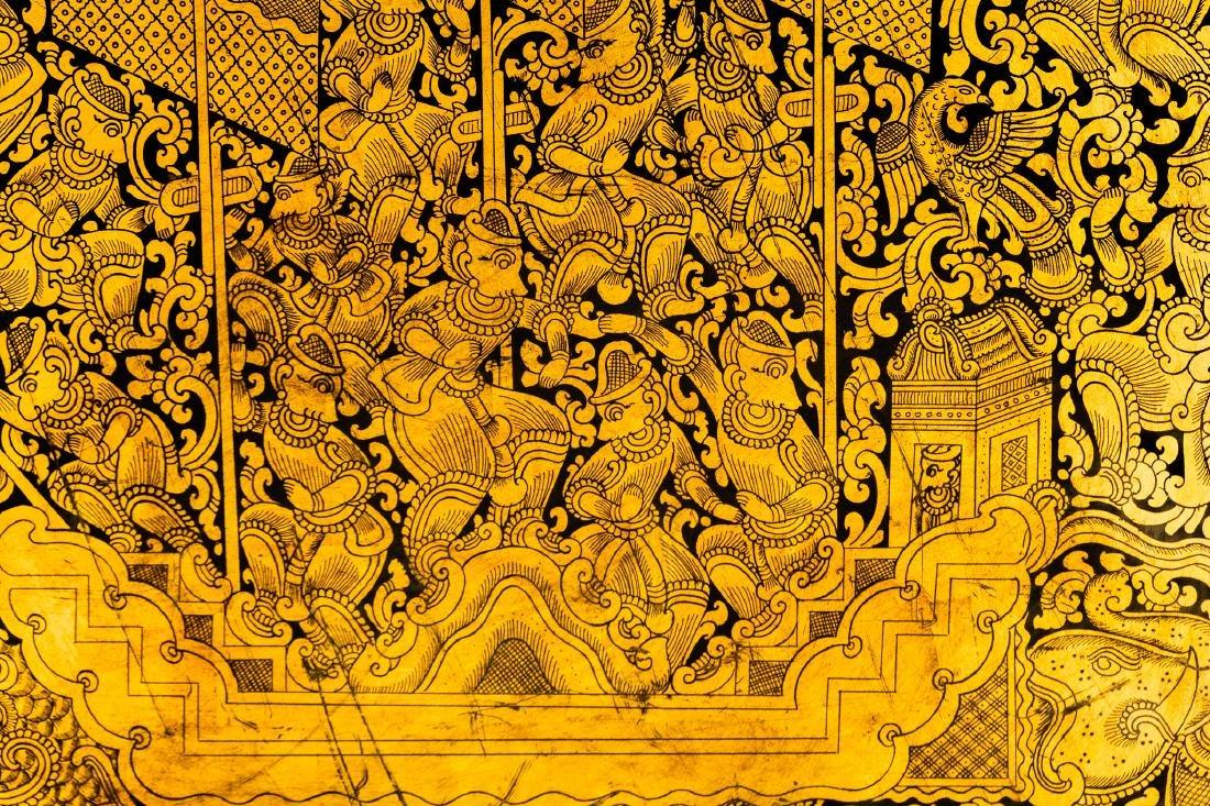 19th Century Burmese Lacquerware Monks Robe Box - 7