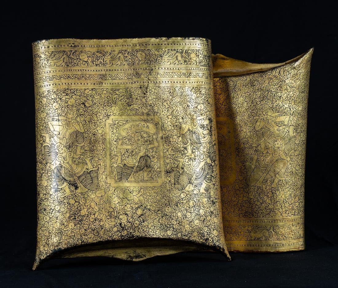 19th Century Burmese Shwe Zawa Lacquer Money Pouch - 10