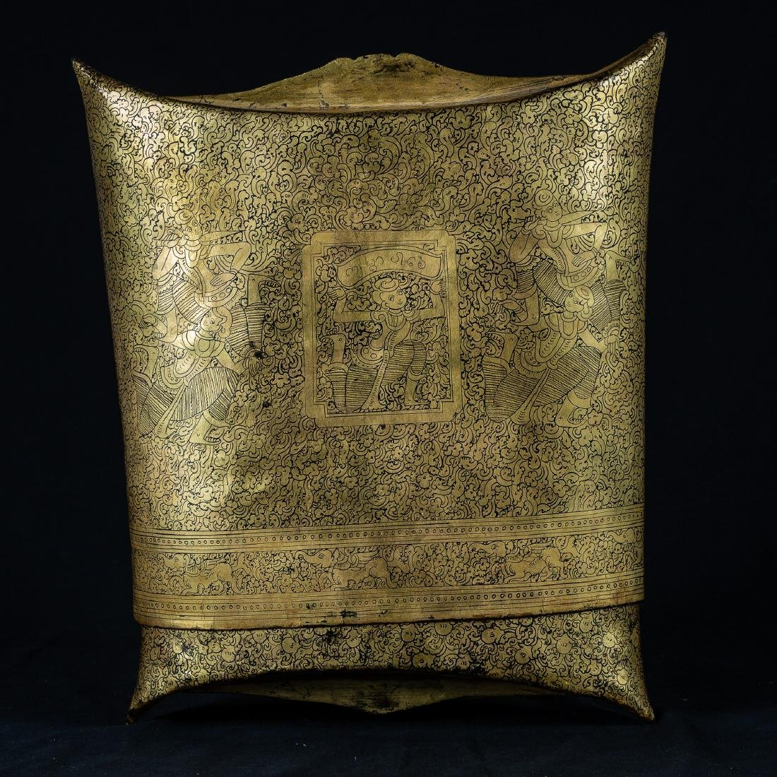19th Century Burmese Shwe Zawa Lacquer Money Pouch - 7