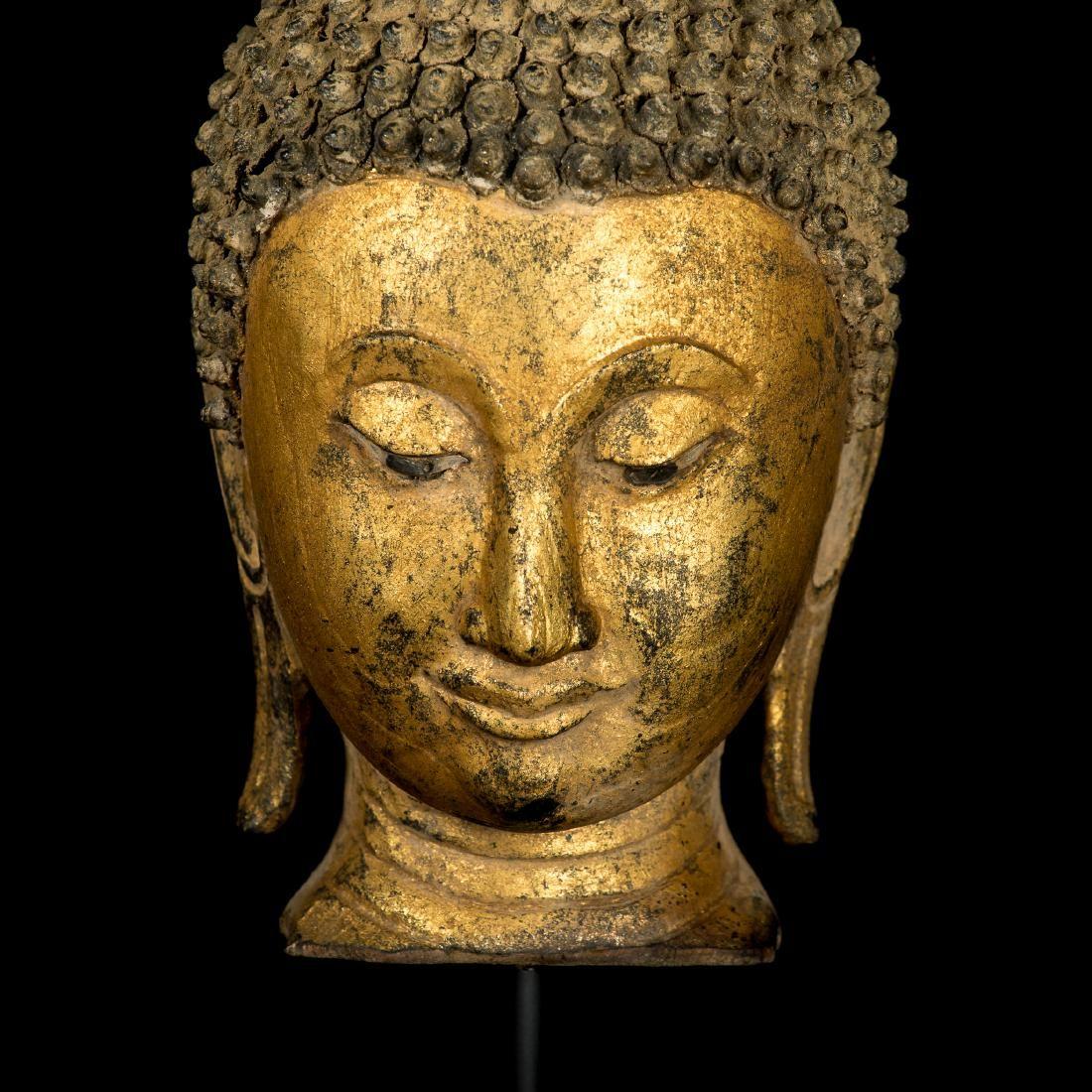 18th Century Sukhothai Gold Gilt Buddha Head Feb 15 2019 Hd Asian Art In United Kingdom