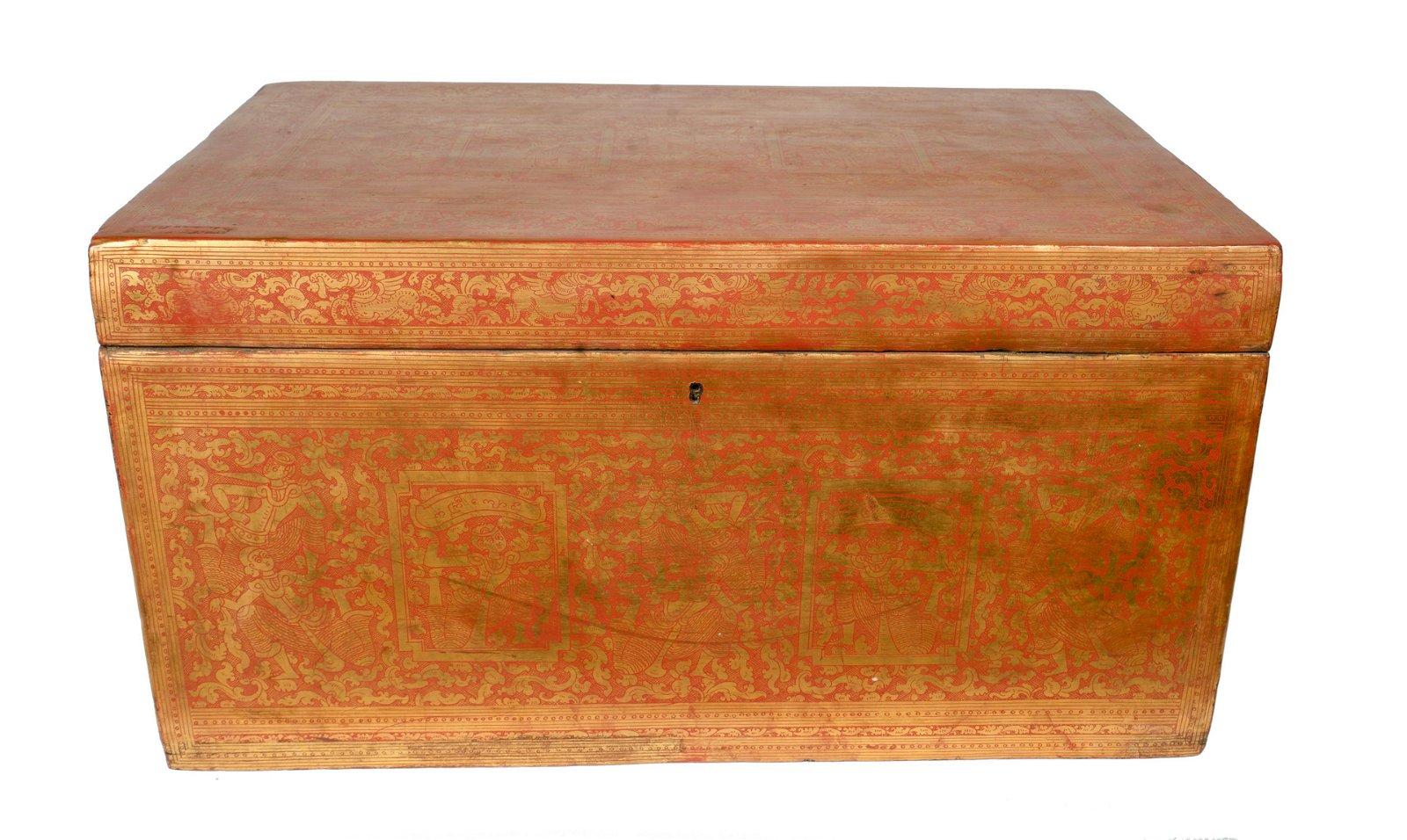 19th Century Burmese Sadaik or Lacquer Manuscript Box