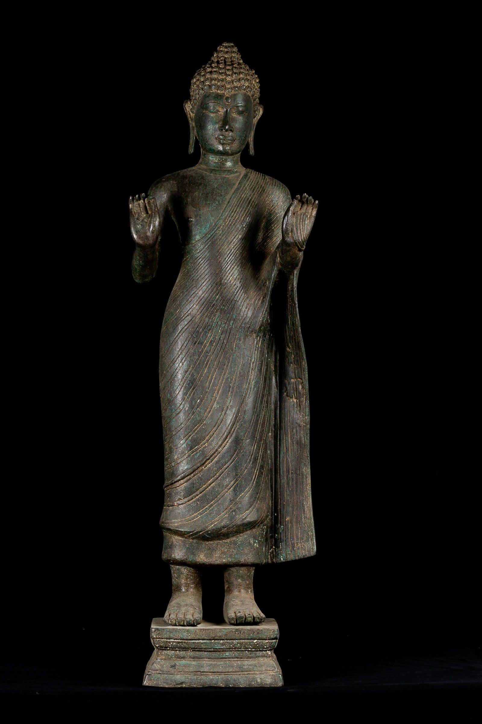 18th Century Bronze Thai Teaching Buddha