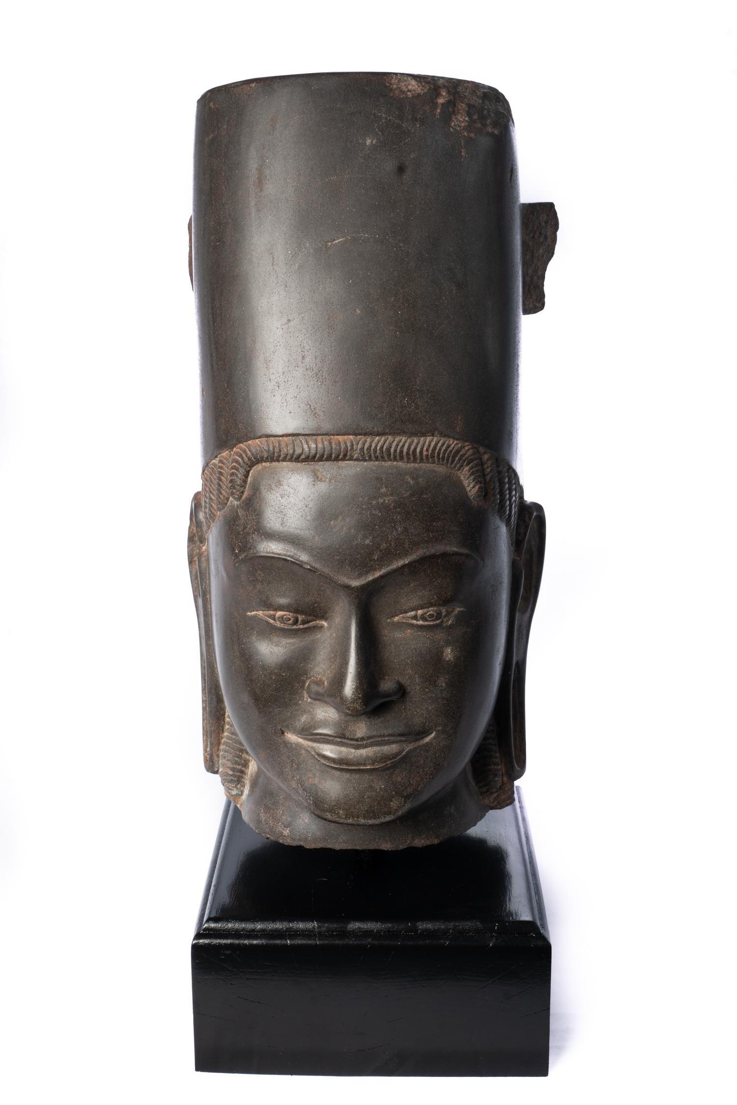 Antique Phnom Da Style Hari Hari or Vishnu Head -