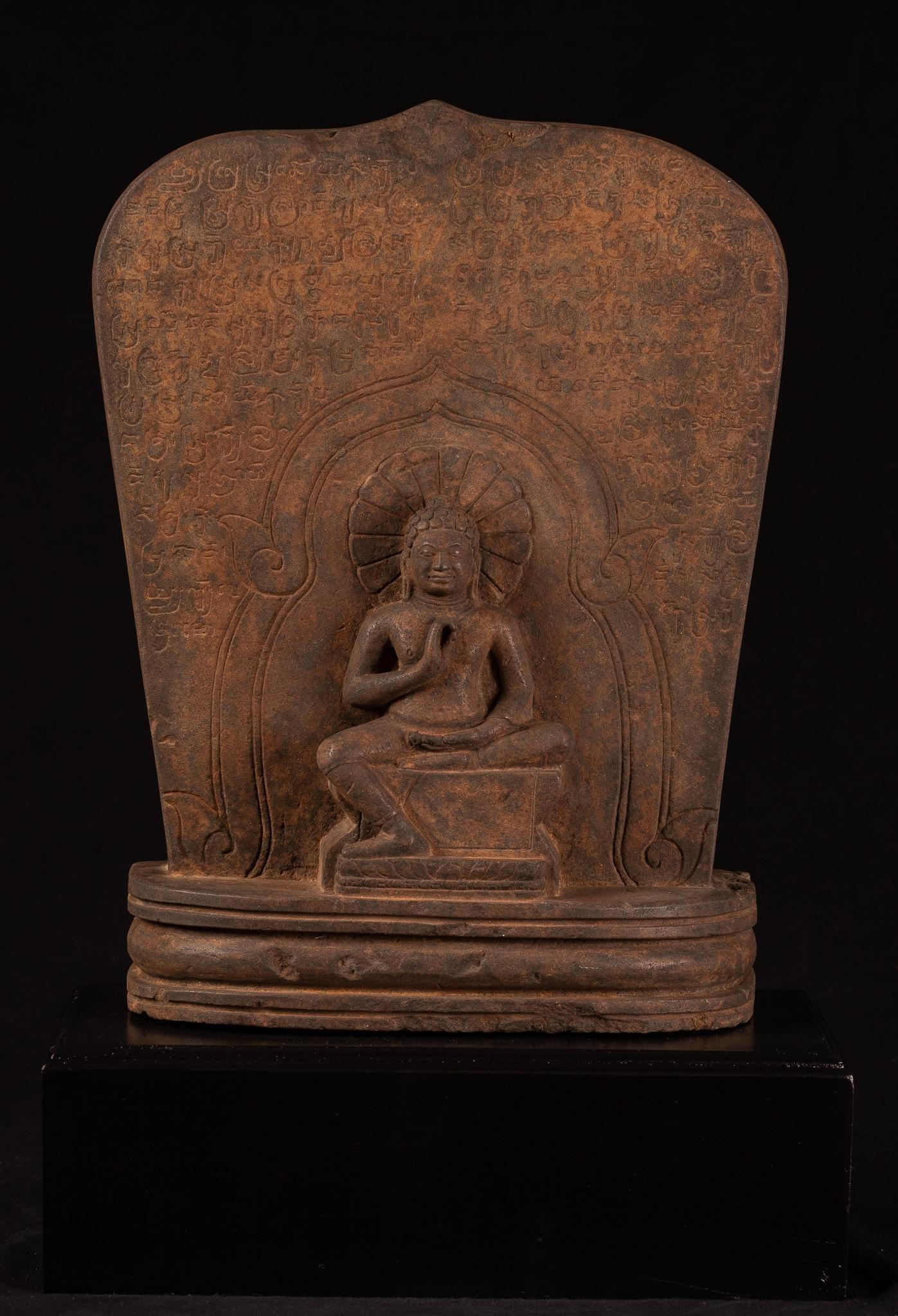 Thai Stele with Teaching Buddha