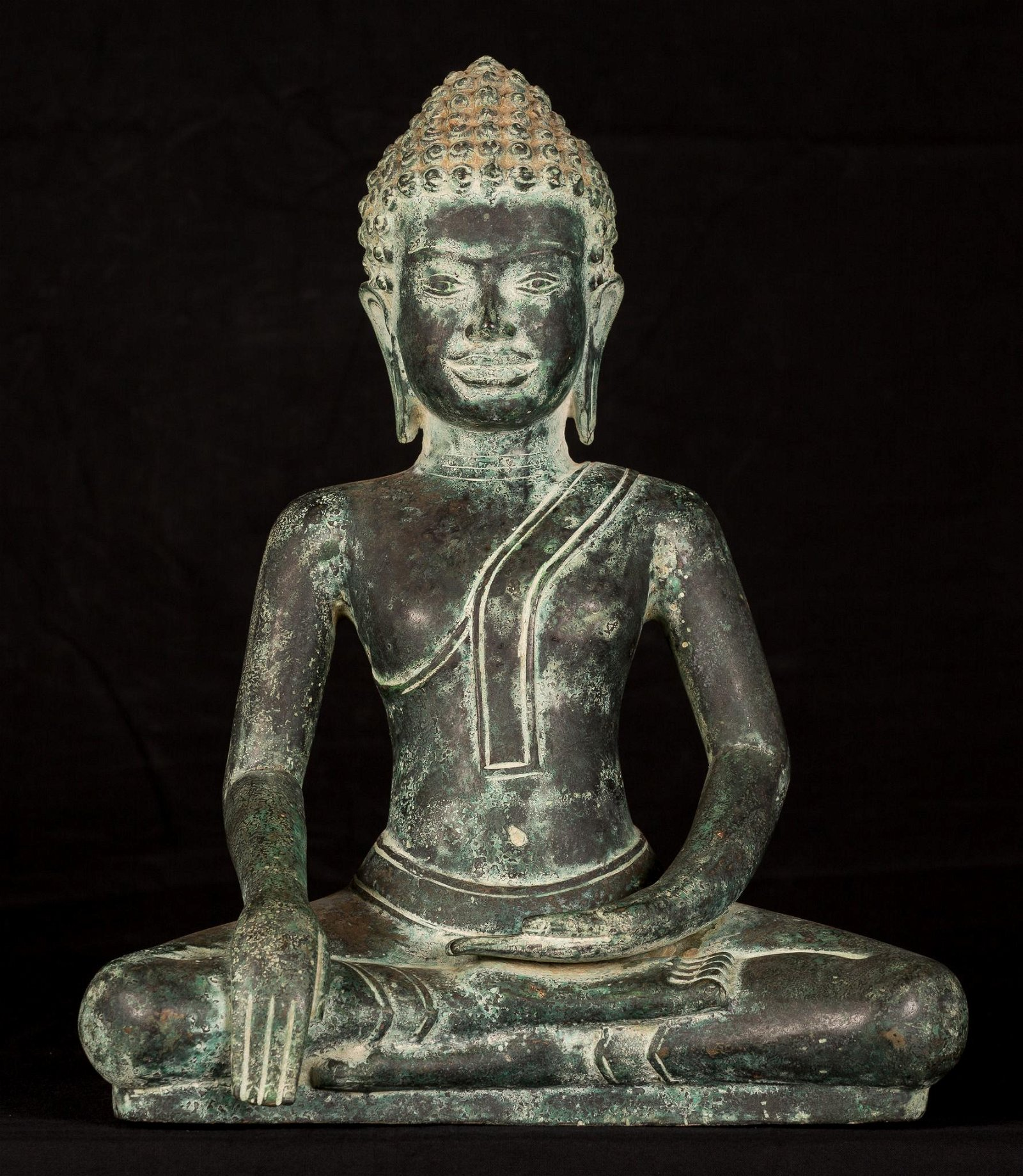 18th Century Dvaravati Thai Enlightenment Buddha
