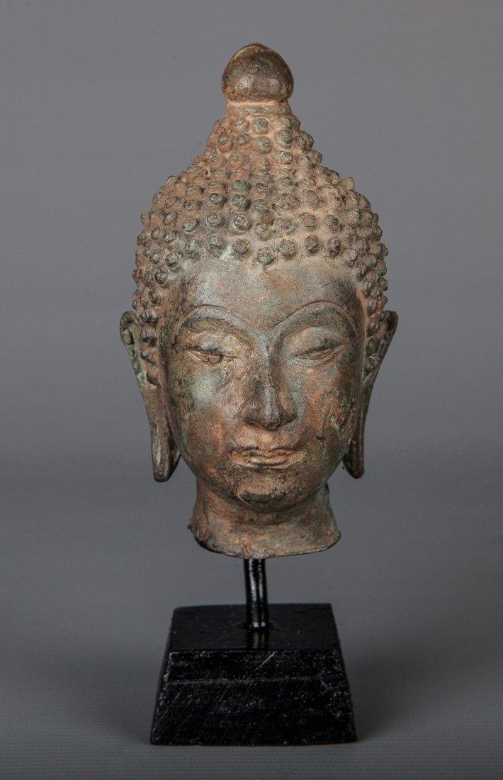 Antique Style Thai Bronze Mounted Ayutthaya Buddha