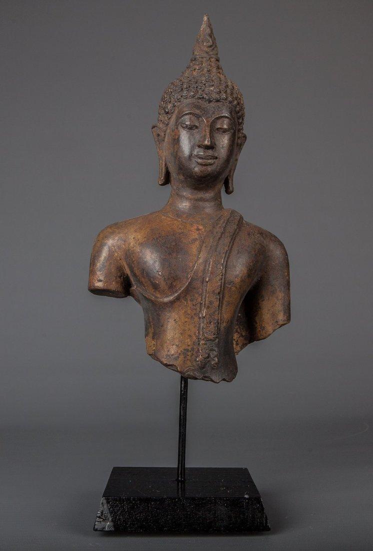 Antique Style Thai Bronze Mounted Sukhotthai Buddha