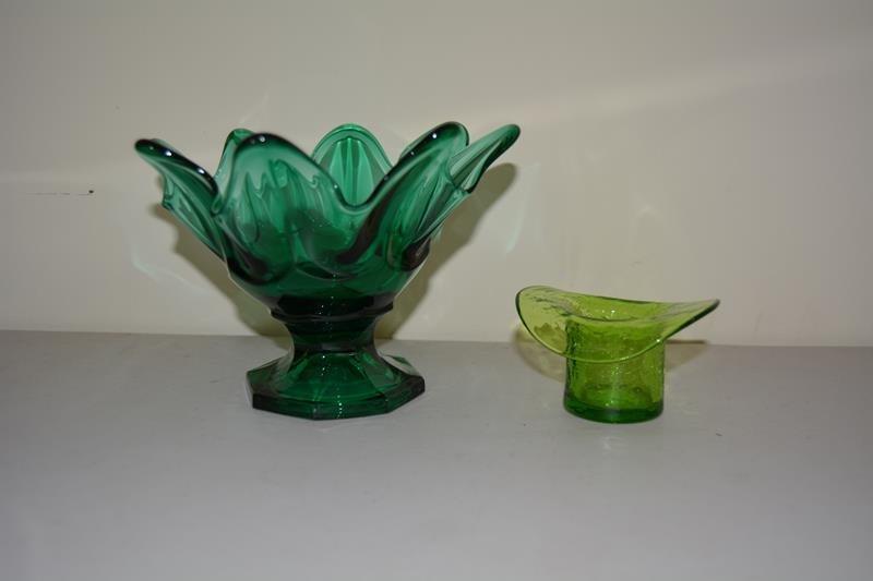 Green glass lot