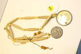 necklace with bone hair pipe
