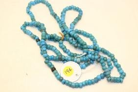 strand of powder blue Padre trade beads