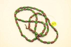 strand of melon trade beads
