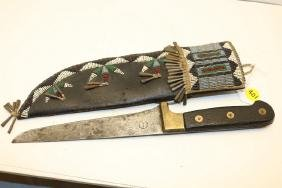 beaded sheath hide / trade knife