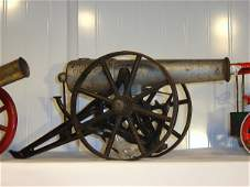 451 Cast Iron and wood toy cannon