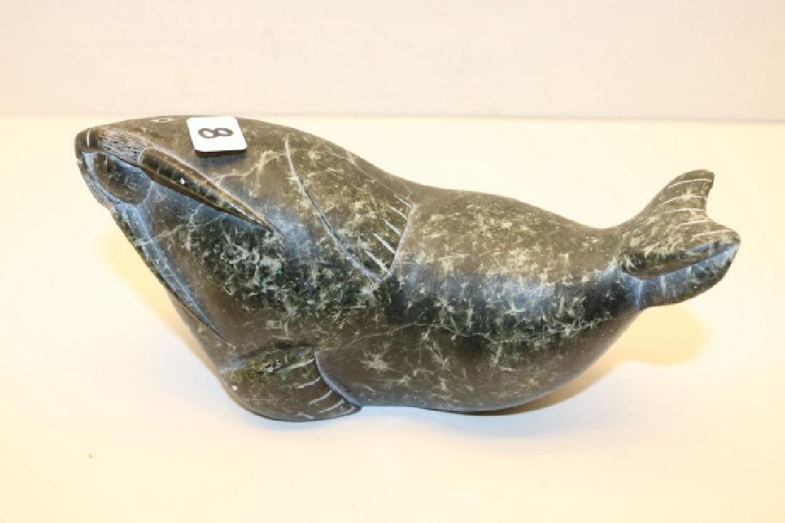 Inuit Soapstone Walrus Carved Figure