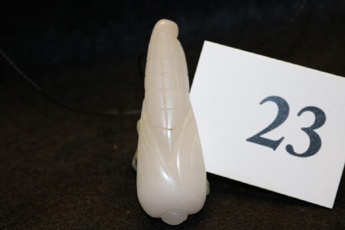 White Jade Corn Cob Pendant