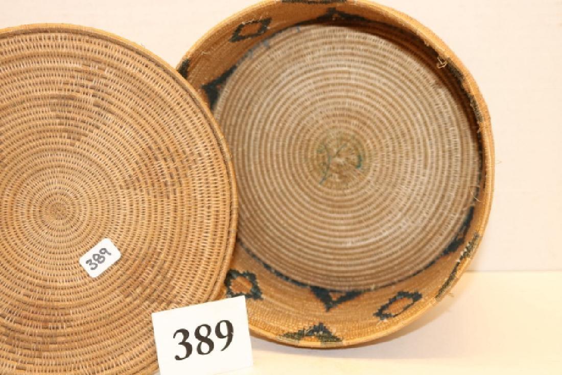 Lidded Diamond Design Alaskan Basket - 2