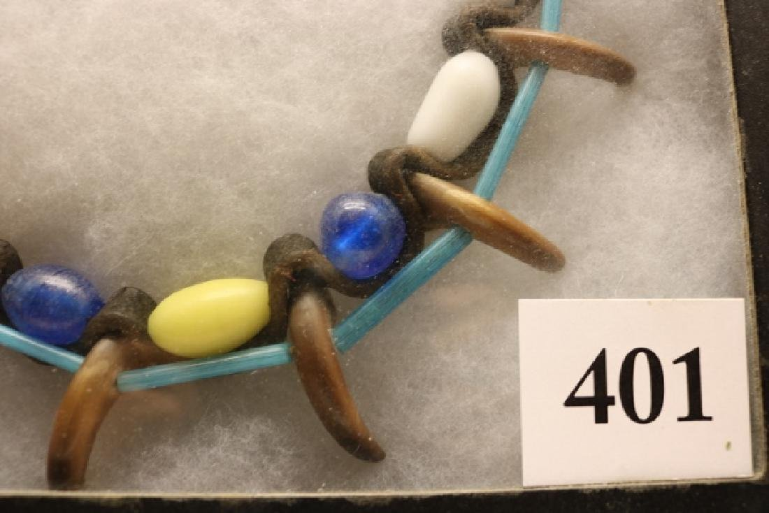 Strand of Trade Beads /10 Brown Bear Claws - 2