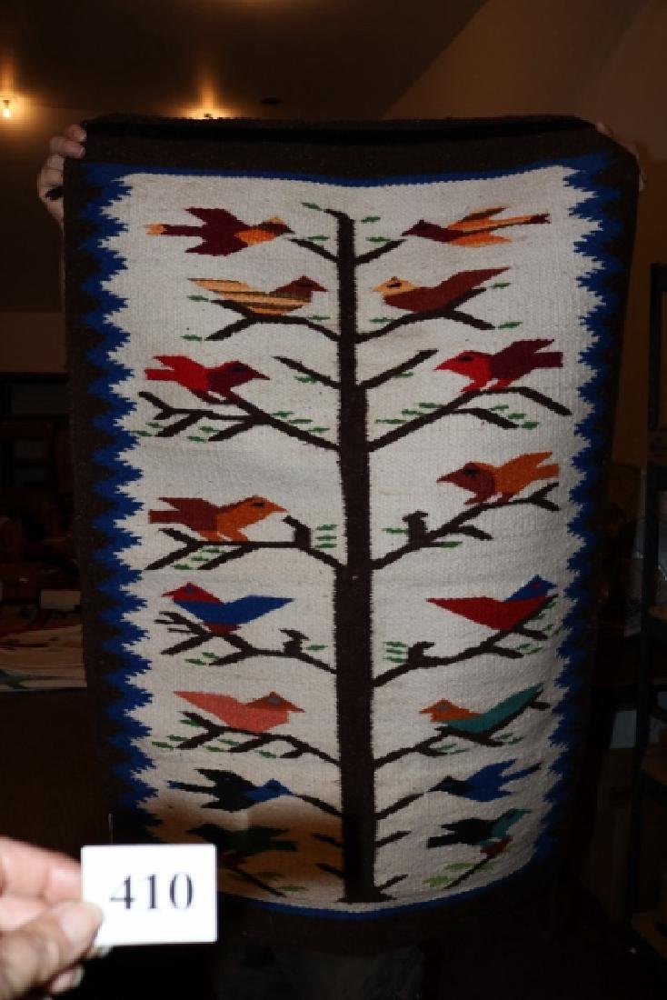Tree of Life with colorful birds Mexican Rug