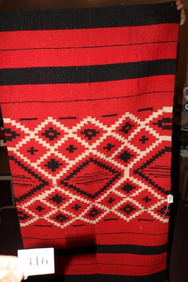 Red, White & Black Rug
