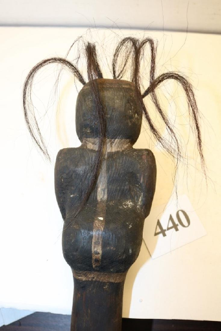 Carved Human Seated Club - 2