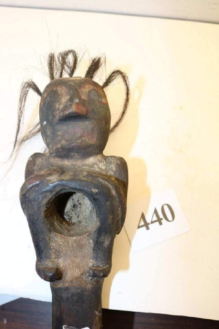 Carved Human Seated Club - 3
