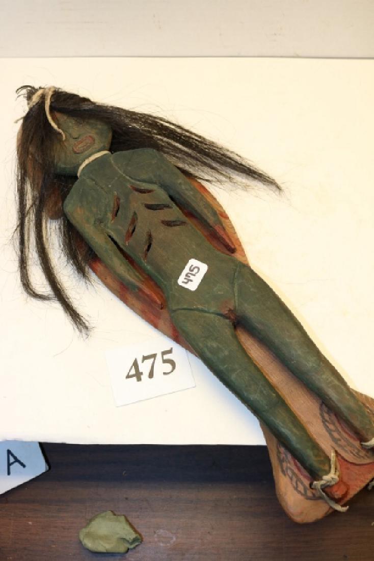 Carved Wood Fish /Female Doll Effigy