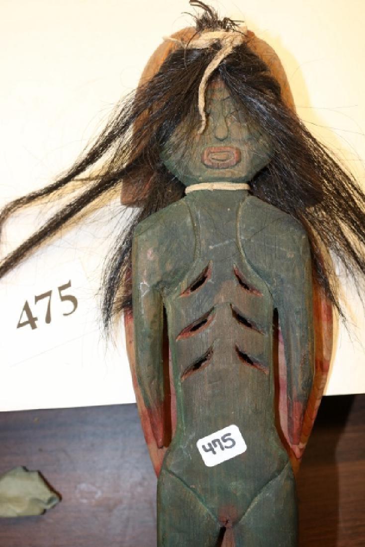 Carved Wood Fish /Female Doll Effigy - 2