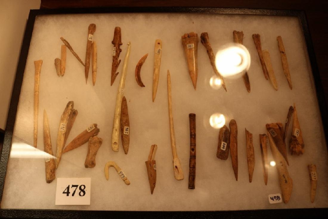35 Assorted Bone Artifacts