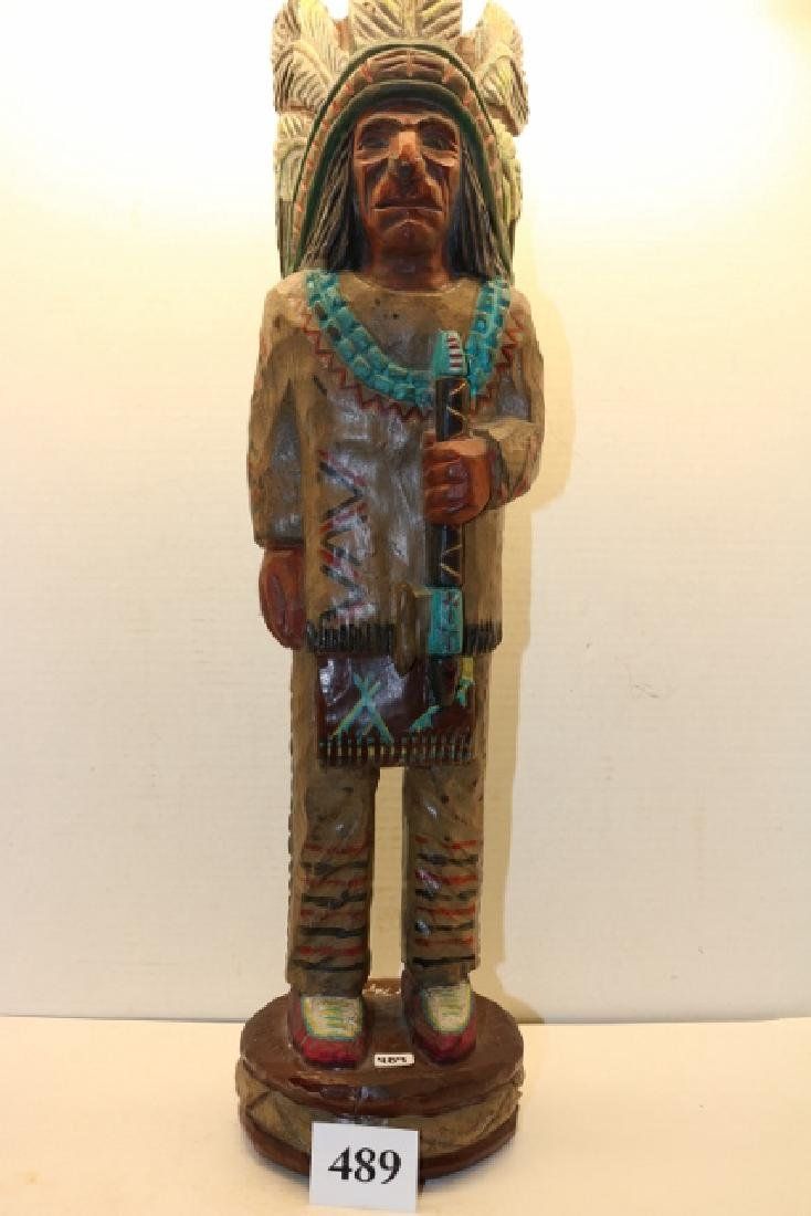 Male cigar store Indian Counter